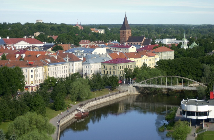 TAR01 - 20020829 - TARTU, ESTONIA: Picture dated 29 August 2002 showing an aerial view of the southern Estonian city of Tartu. EPA PHOTO / NIPA / TIMUR NISAMETDINOV