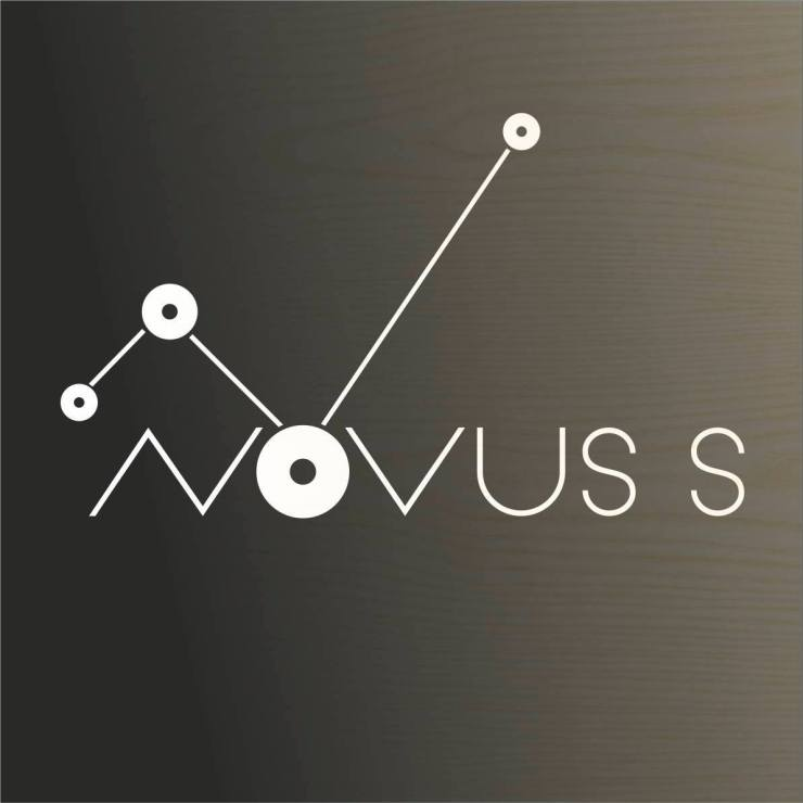 Novuss's logo derives from the location on the map of the four cities where the game originated. (From left to right: Liepāja, Ventspils, Riga, Tallinn)
