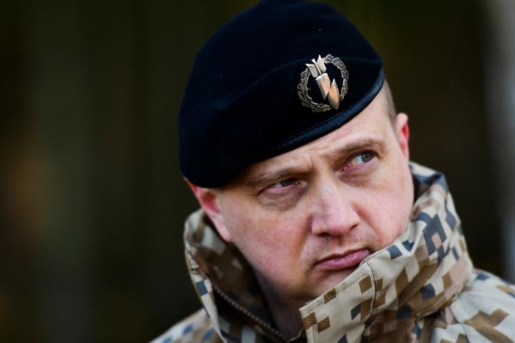First Lieutenant Aigars Pūce, commander of 1st Platoon.