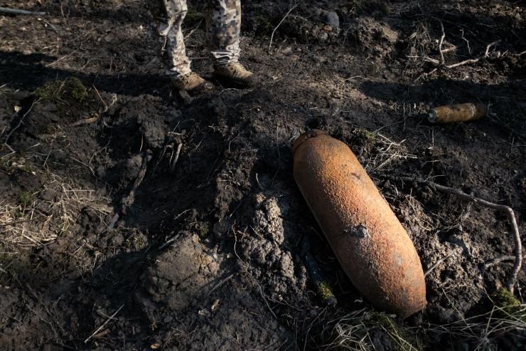 A 50 kilogram Russian bomb discovered in Zvārde.